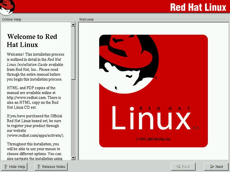 RedHat Linux 7 3 (2002) — Daniil Baturin
